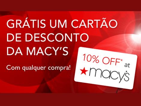 Cartão de desconto Macy's