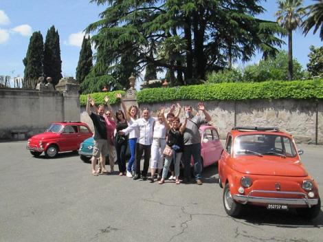 Tour Rome on board the legendary Fiat 500