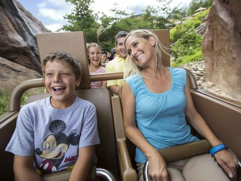 Mother and son at Walt Disney World