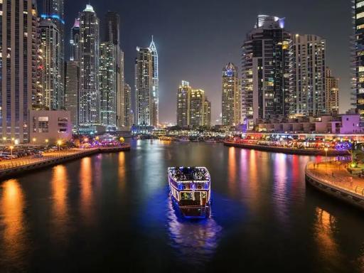 Evening Dhow Dinner Cruise on Dubai Marina