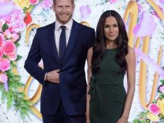Prince Harry e Meghan no Madame Tussauds em Londres