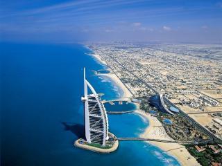 Vista de Dubai de helicoptero