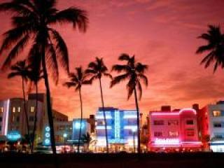Miami Beach à noite