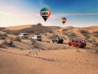 Dubai Hot Air Balloon Flight with Land Rover Drive & Desert Breakfast