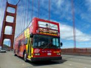 San Francisco em ônibus de dois andares