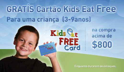 Cartão Kids Eat Free Plus