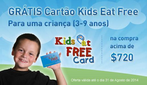 Cartão Kids Eat Free